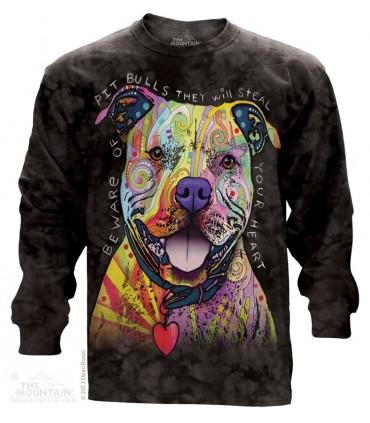 Attention aux Pit Bulls - T-shirt manche longue The Mountain