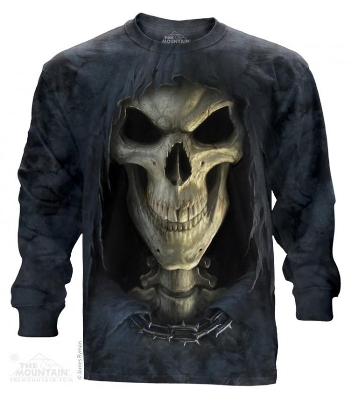 Big Face Death - Long Sleeve T Shirt The Mountain