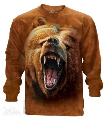 Grizzly Growl - Long Sleeve T Shirt The Mountain