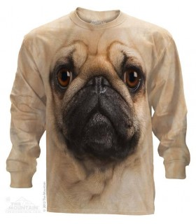 Pug Face - Long Sleeve T Shirt The Mountain