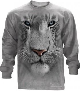 T-shirt manche longue Tigre Blanc The Mountain
