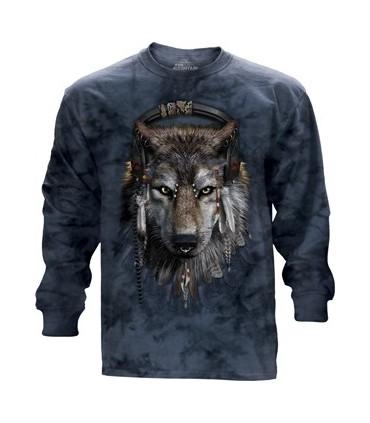 DJ Fen - T-shirt manche longue Loup The Mountain