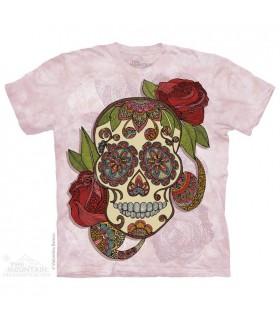 Crâne Fleuri - T-shirt Fantastique The Mountain