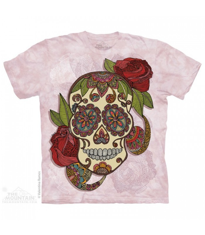 Paisley Sugar Skull - Fantasy T Shirt The Mountain