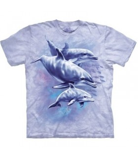 T-Shirt Famille de Dauphins par The Mountain