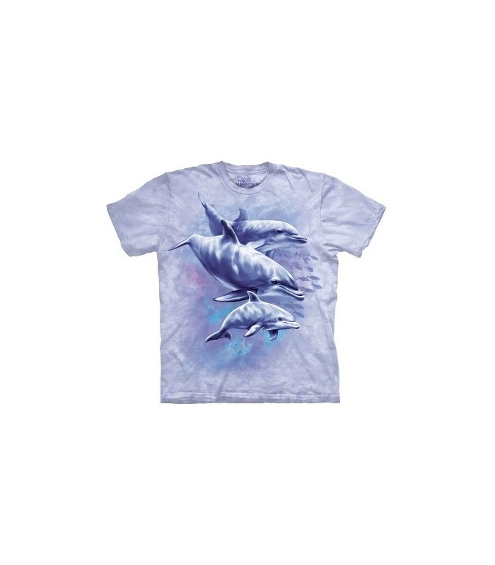 Dolphin Family Trio - Sealife T Shirt by the Mountain