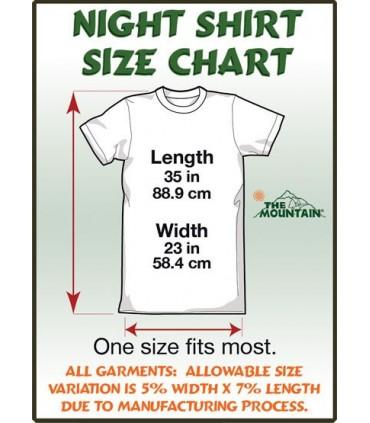 Attention aux Pit Bulls - T-shirt Nuit pour Adulte The Mountain