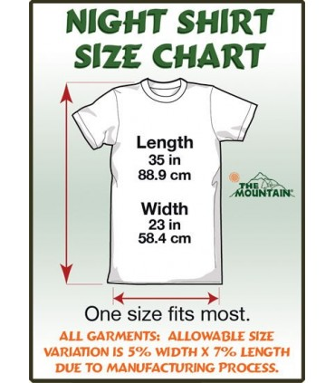 T-Shirt Nuit Adulte Chat aux Yeux Verts The Mountain