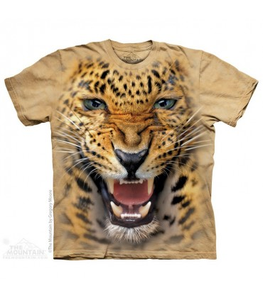 Angry Leopard - Big Cat T Shirt The Mountain