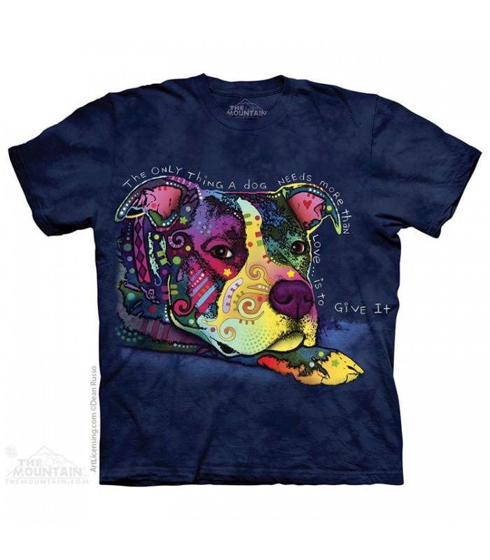Donner de l'amour - T-shirt chien The Mountain
