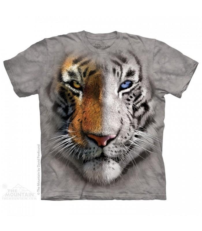 Big Face Split Tiger - Big Cat T Shirt The Mountain