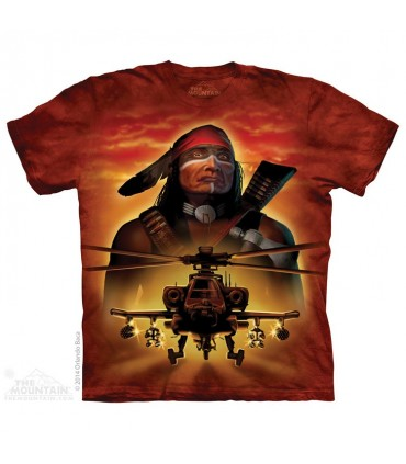 Apache Warrior - Helicopter T Shirt The Mountain