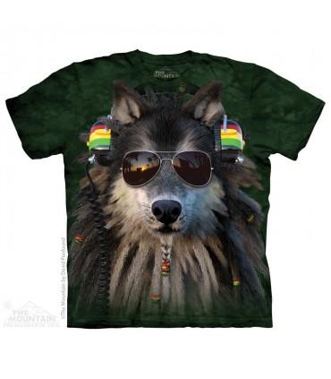 Rasta Wolf - Animal T Shirt The Mountain