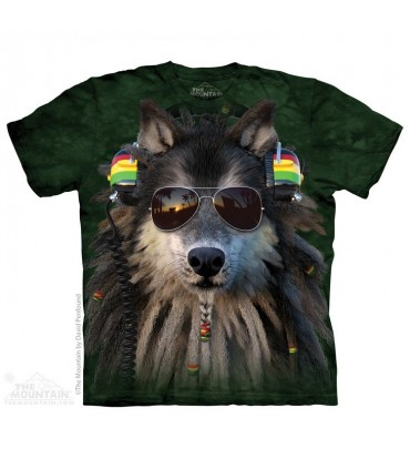 T-shirt Loup Rasta The Mountain