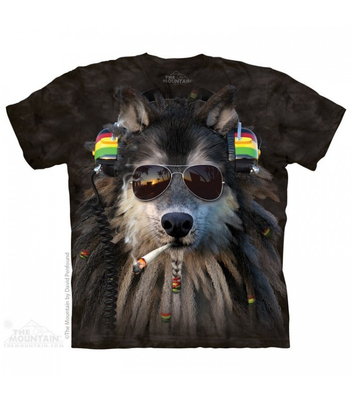 T-shirt Loup Rasta Fumeur The Mountain