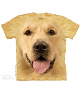 Big Face Golden - Dog T Shirt The Mountain