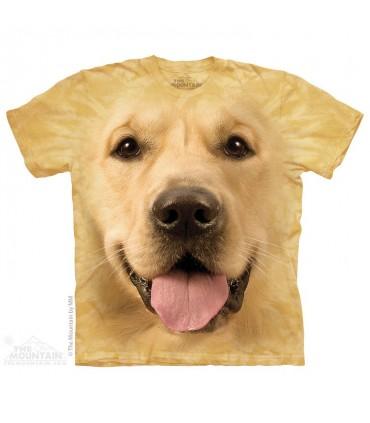 Big Face Golden - Dog T Shirt The Mountain