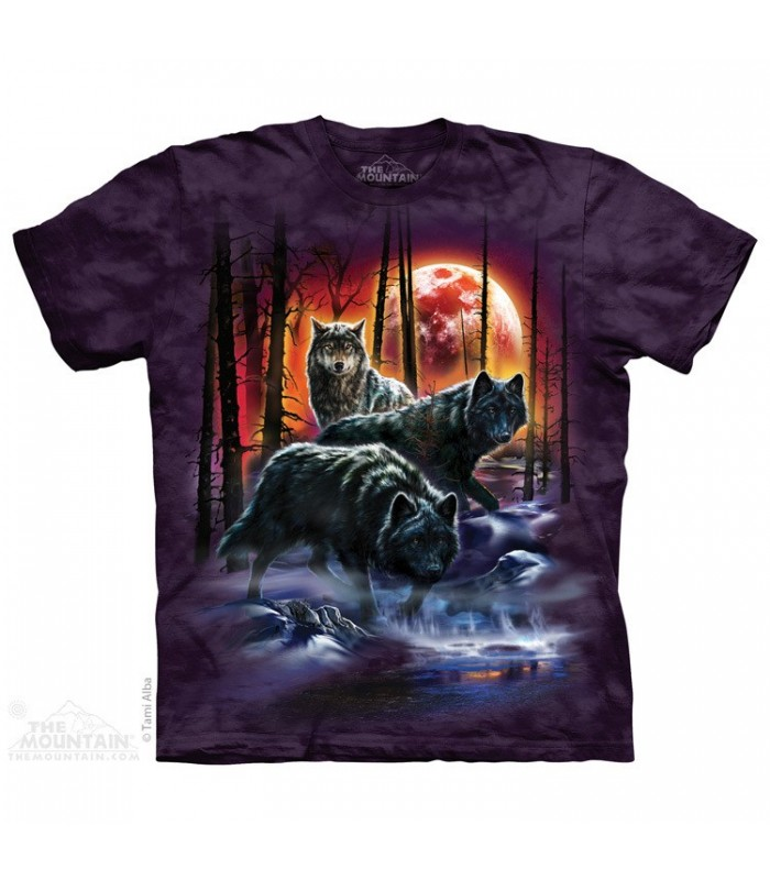 Fire & Ice Wolves - Wolf T Shirt The Mountain