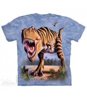 T-Rex Rayé - T-shirt Dinosaure The Mountain