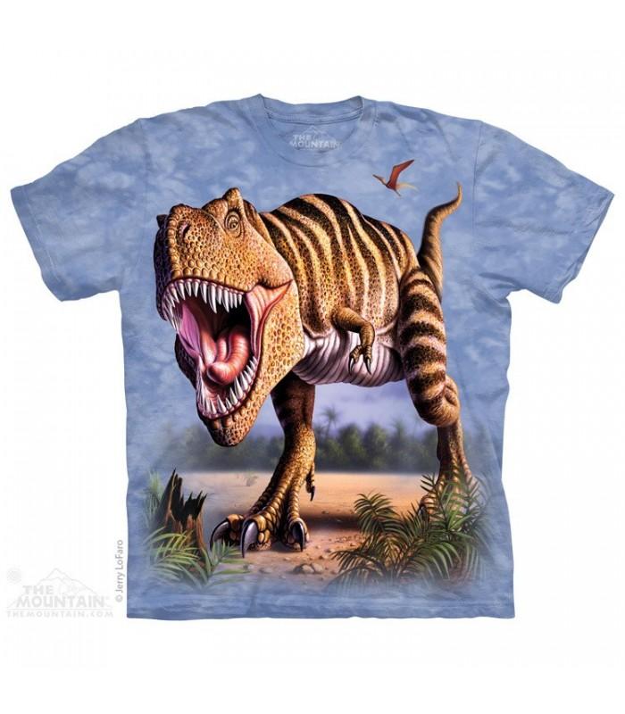 Striped Rex - Dinosaur T Shirt The Mountain