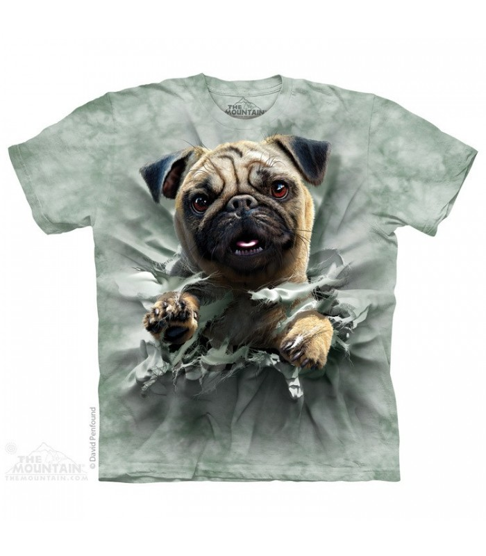 Pug Breakthru - Dog T Shirt The Mountain