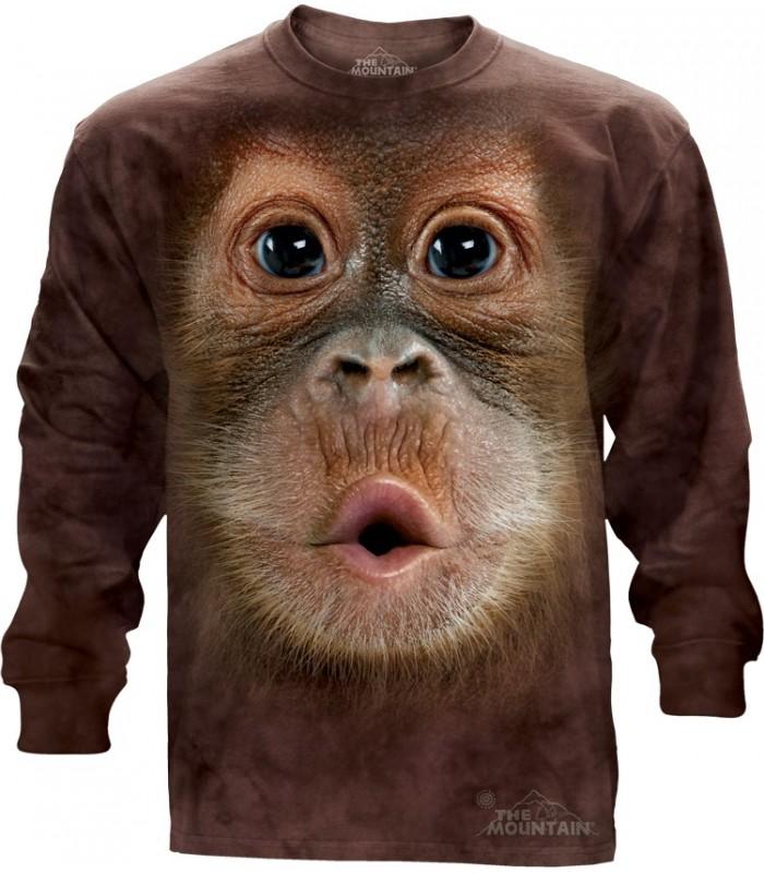 T-shirt manche longue Bébé Orang Outan The Mountain