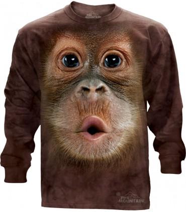 Big Face Baby Orangutan - Long Sleeve T Shirt The Mountain