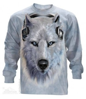 White Wolf DJ - Long Sleeve T Shirt The Mountain