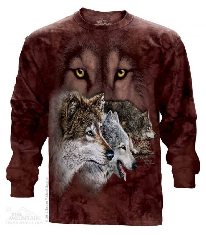 Find 9 Wolves - Long Sleeve T Shirt The Mountain