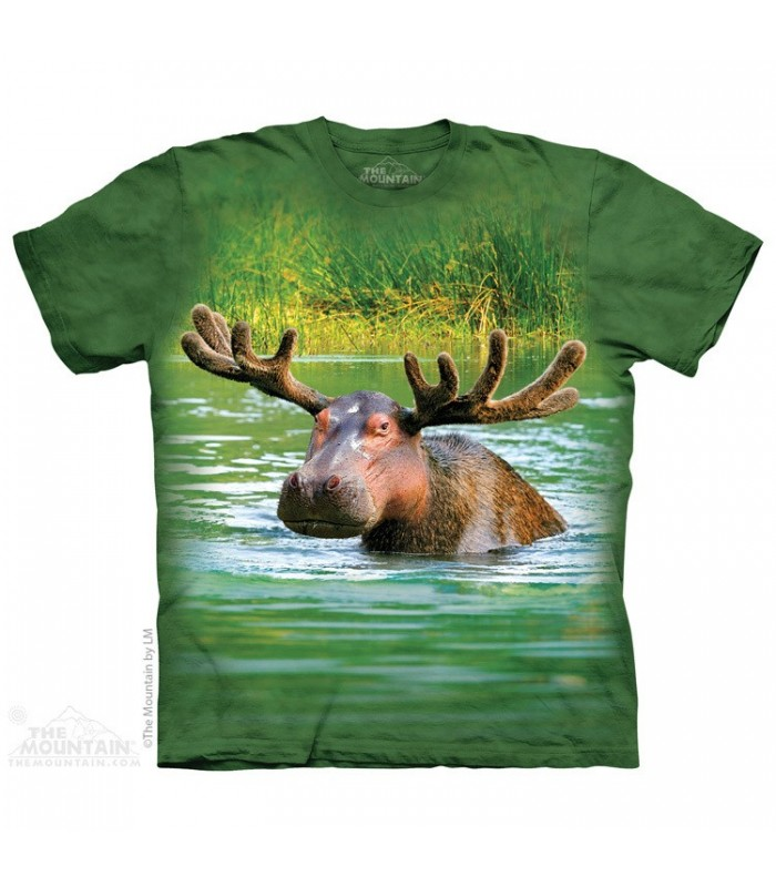 Hippopotamoose - T-shirt Animaux Mixés The Mountain