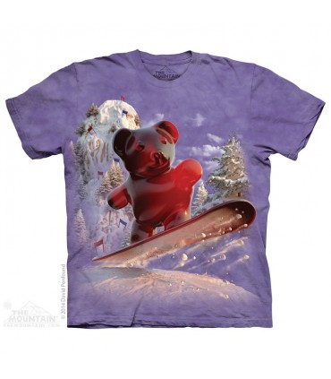 T-shirt Ours en Snowboard The Mountain