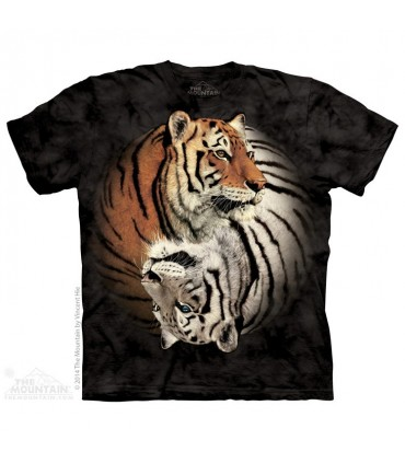 Yin Yang Tigers - Animal T Shirt The Mountain