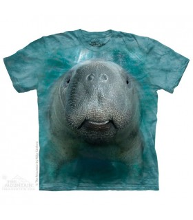 Big Face Manatee - T Shirt The Mountain