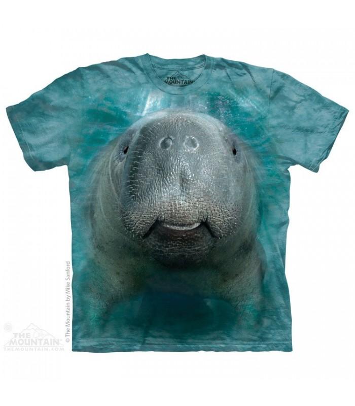 Big Face Manatee - T Shirt The Mountain