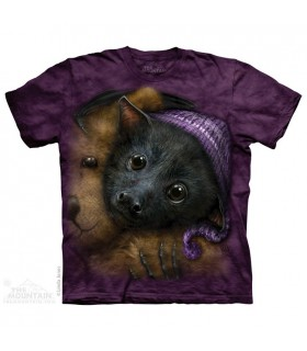 Baby Bat Bedtime - Animal T Shirt The Mountain