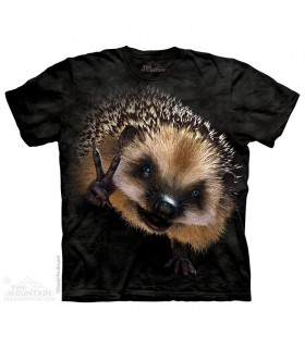 Peace Hedgehog - Animal T Shirt The Mountain