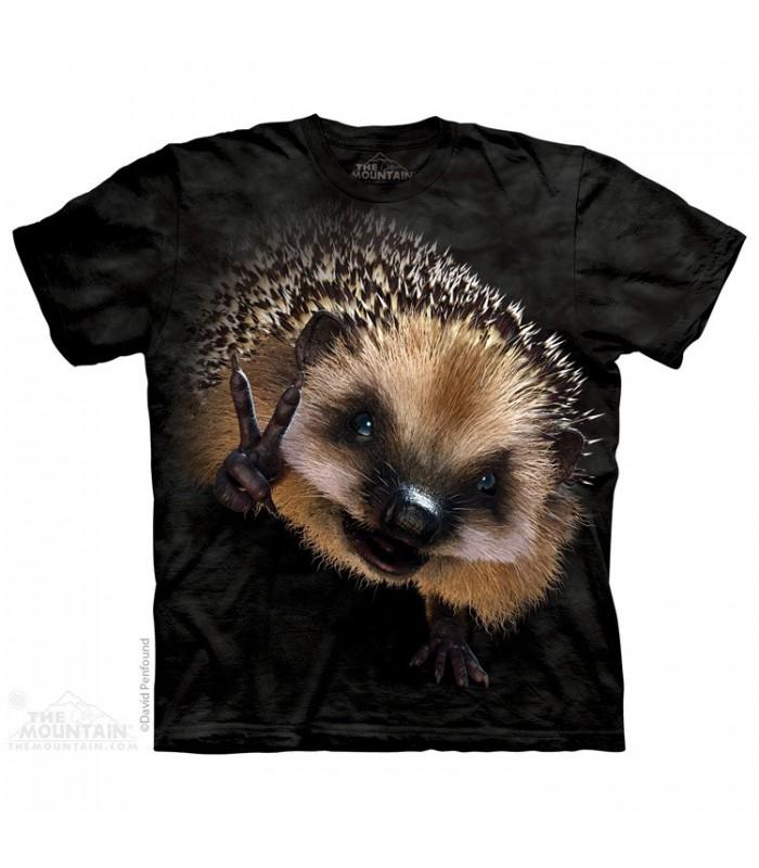 Peace Hedgehog - Animal T Shirt The Mountain