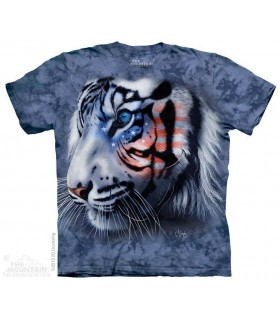 Stars & Stripes Tiger - Patriotic T Shirt The Mountain