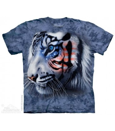 Stars & Stripes Tiger - Patriotic T Shirt The Mountain