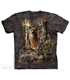 Find 9 Deer - Hidden Images T Shirt The Mountain