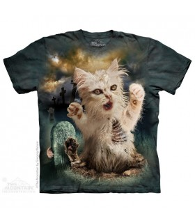Zombie Cat - Dark Fantasy T Shirt The Mountain