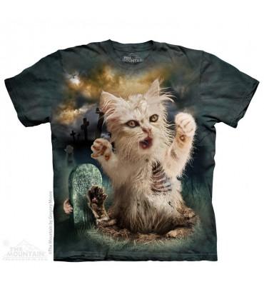Zombie Cat - Dark Fantasy T Shirt The Mountain