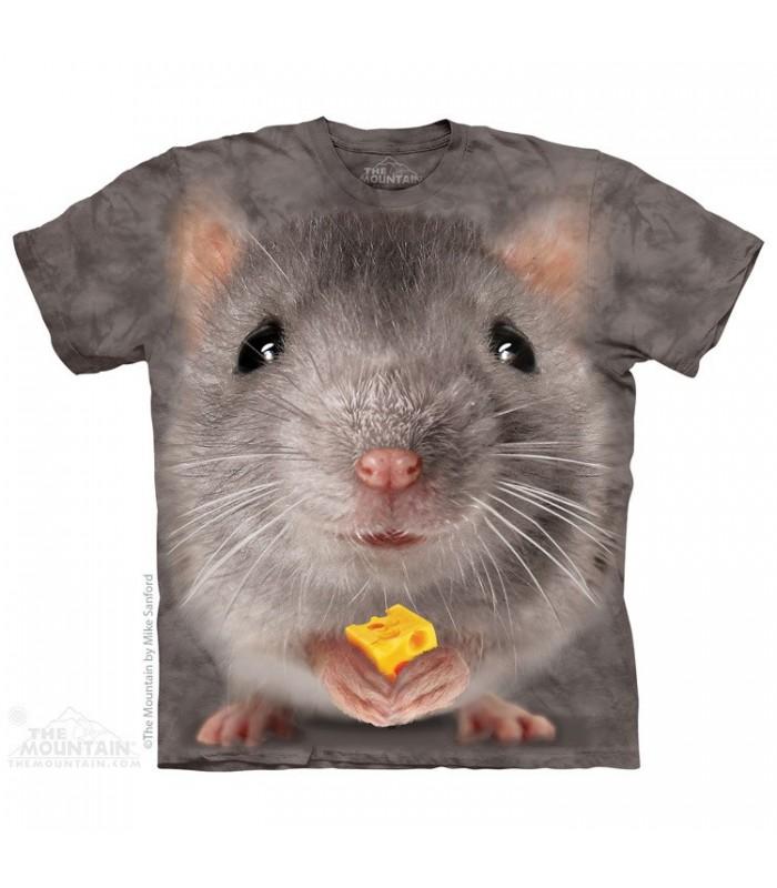 Big Face Grey Mouse - Animal T Shirt The Mountain
