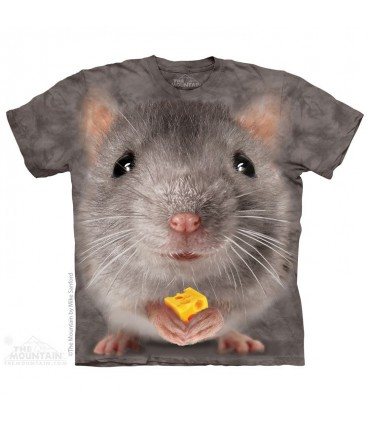 Big Face Grey Mouse - Animal T Shirt The Mountain