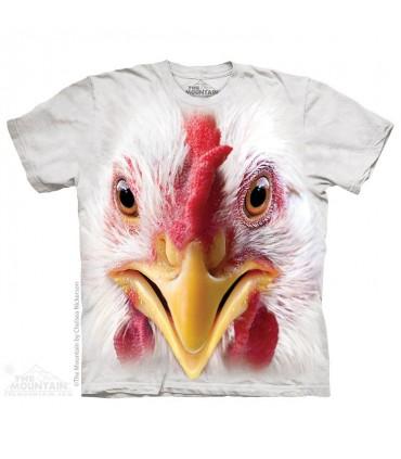 Big Face Chicken - Bird T Shirt The Mountain