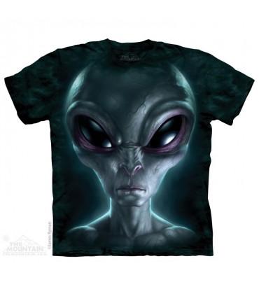 Alien Gris - T-shirt Science Fiction The Mountain