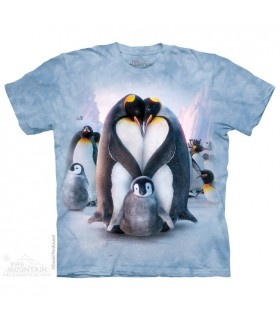Penguin Heart - Aquatic T Shirt The Mountain