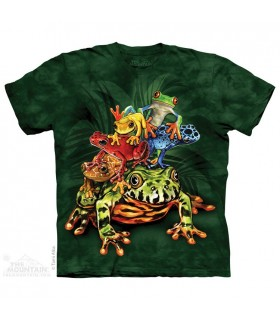 Frog Pile - Amphibian T Shirt The Mountain