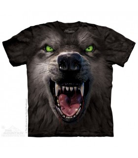 T-shirt Loup Menacant par The Mountain