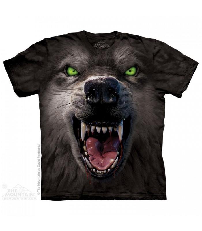 T-shirt Loup Menacant par The Mountain